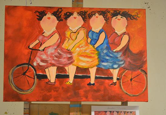 Henk nyenhuis schilderworkshop dikke dames schilderen zwolle for Dikke dames schilderen