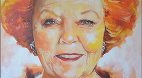 ''Prinses Beatrix' - Acryl on Canvas - 120 x 120 x 4 cm - FOR SALE  -
