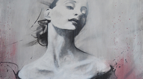 'Grace' - Acryl on Canvas - 100 x 80 x 4 cm - SOLD -