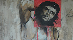 'Che Gayvara' - Acryl on Canvas - 100 x 80 x 4 cm - DONATED -